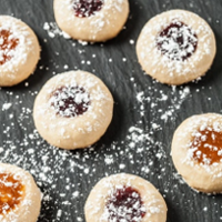 Mrs. Claus Favorite Recipes - Jam Thumbprint Cookies – Chew Out Loud