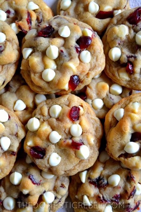 Cranberry White Chocolate Chip Cookies - The Domestic Rebel