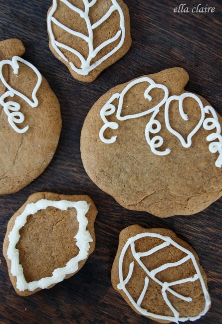 Spiced Pumpkin Gingerbread Cookies – Ella Claire Inspired