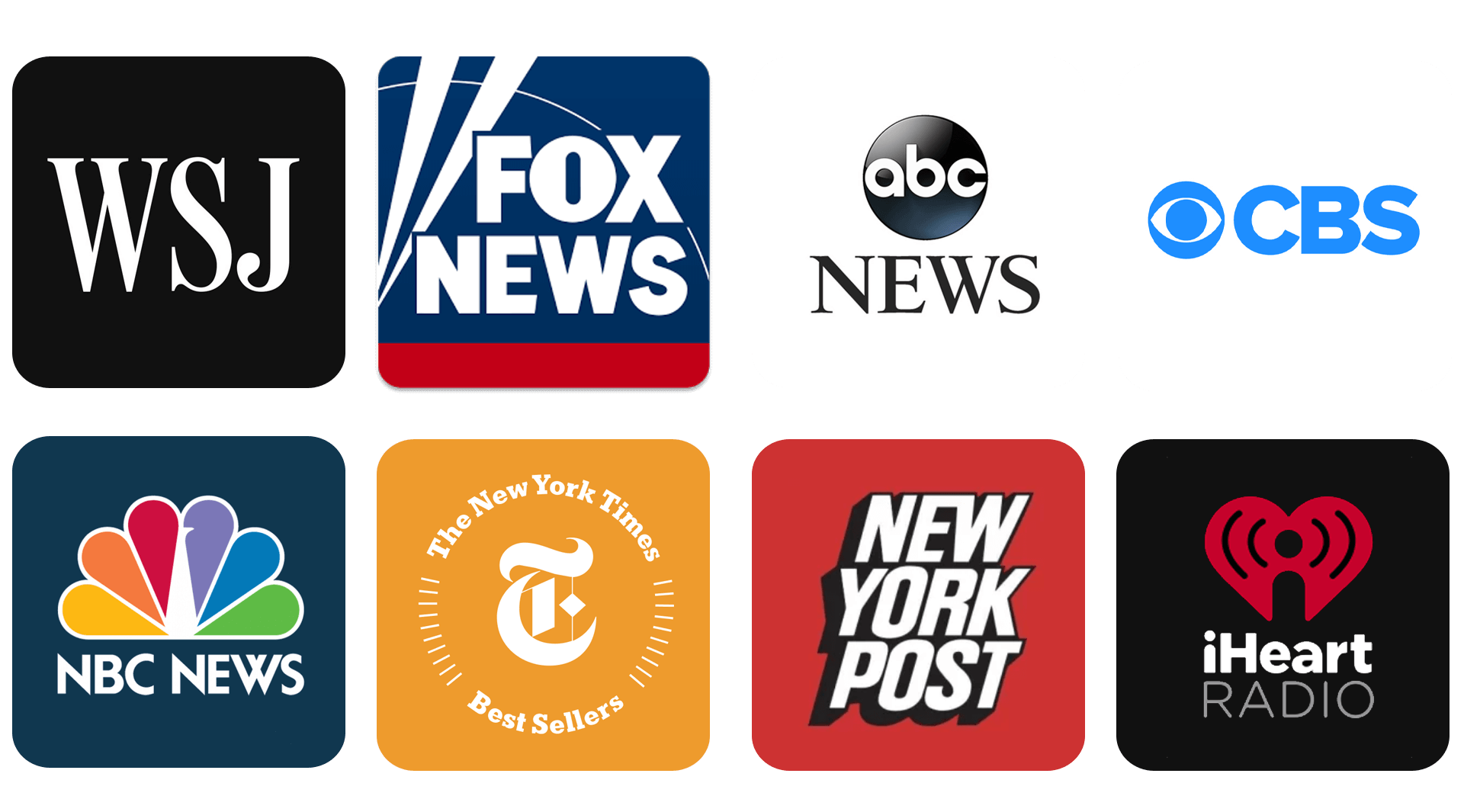 WSJ, FOX NEWS, abc NEWS, CBS, NBC NEWS, The New York Times, New York…